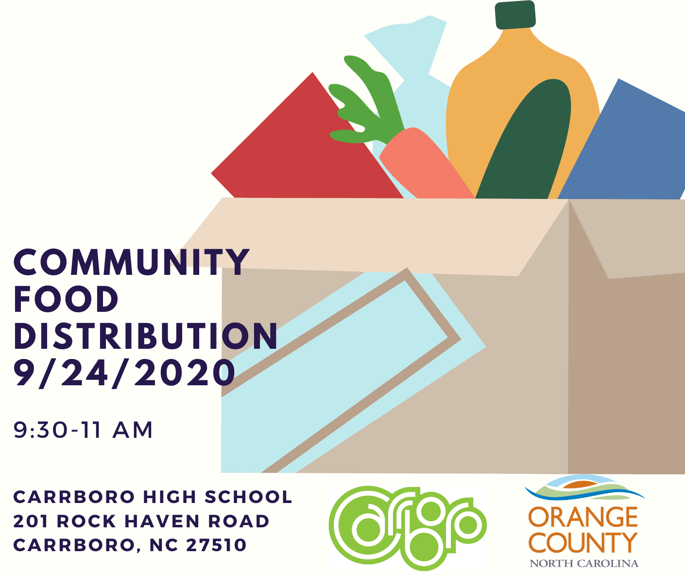 Community Food Distribution 9-24-2020